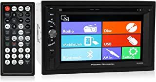 Power Acoustik PD-620HB Double DIN DVD, CD/MP3, FM/AM Car Stereo with Bluetooth Connectivity