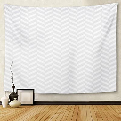 Berrykey Tapestry Abstract Subtle Gray Herringbone Pattern Chevron Home Decor Wall Hanging for Living Room Bedroom Dormisette 60x 80Inches