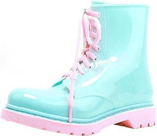 [Cozy Maker] C&M レインブーツ レインシューズ レディース シューズ ブーツ 雨靴 雨の日 梅雨 可愛い 雨対策 防水 撥水 水作業 軽量 おしゃれ レースアップ