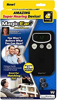 Official As Seen On TV Atomic Beam Magic Ear Personal Sound Booster by BulbHead, Portable Hearing Amplifier Enhances Vocals, Cancels Out Background Noise (1 Pack)