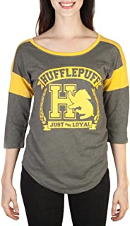 Harry Potter Hufflepuff Raglan Athletic Tee Shirt