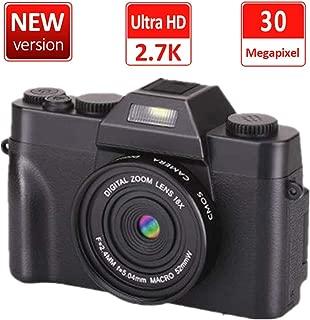 デジカメデジタルカメラ コンパクト 2.7K 3000万画素 連続ショット 16Xデジタルズーム 初心者 誕生日Micro SDカード128GB対応日本語説明書付き