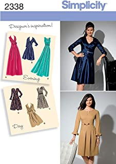 Simplicity Day to Evening Pattern 2338 Misses Dress in 2 Lengths with Sleeve Variations Sizes 10-12-14-16-18
