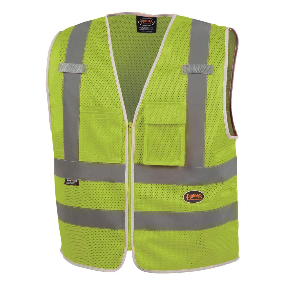 Pioneer Safety Vest for Men – Mesh w Vis Hi Reflective Cheap mail order Easy-to-use sales Neon