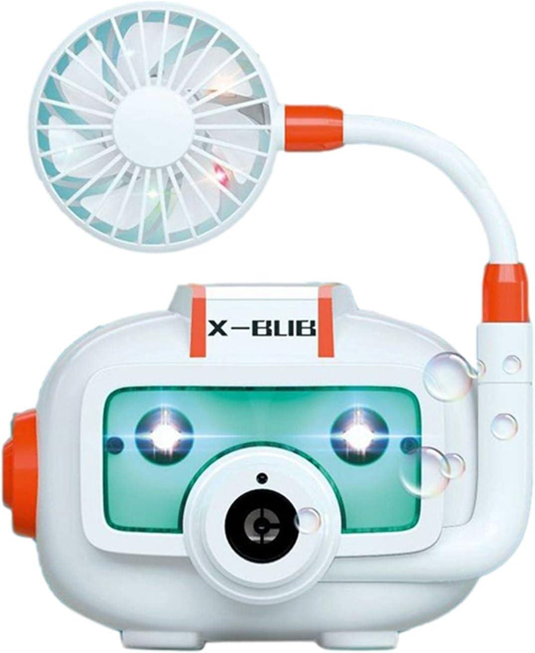 cypressen Máquina de pompas de jabón con ventilador, máquina de burbujas automática, juguete eléctrico, con luz y música, para fiestas de cumpleaños, bodas