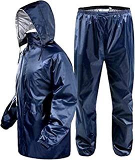Zacharias Women's Reversible Waterproof Raincoat Rainsuit Free Size