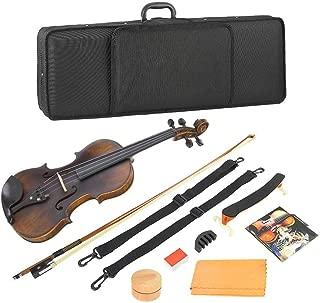 Bnineteenteam Spruce Wood 4/4 Violin Kit Set with Bow Hard Case Rosin Shoulder Holder Musical Instrument Accessories
