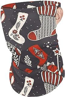 Bandana a Prueba de Polvo Sombreros Lindos Calcetines Navideños Adornos Florales y Polaina de Cuello de Nieve Oreja Loop Face Sombrilla para Montar a Caballo Ciclismo Pesca