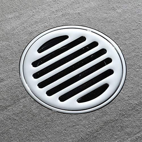 Willkommen zu Hause Dekorationen Kupfer, gerade, schwarzes Quadrat, runder Abfluss, großer Durchfluss, Badentwässerungsvorrichtung, Geruchs- und Anti-Rückstau-Bodenablauf Drain11 cm, Küchenbad, WC-Bod