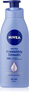 NIVEA Irresistibly Smooth Moisturising Body Lotion & Moisturiser with Intense Moisture Serum & Shea Butter for Dry Skin, 400ml