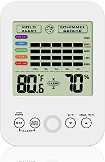 Digital Hygrometer Indoor Thermometer Thermometer Humidity MonitorHumidity Monitor Mildew Wet Temperature Moldy Alert,XQCK-TH01