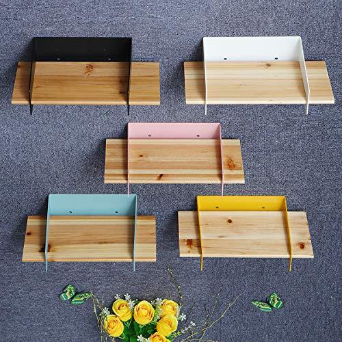 Tutoy 5 Color 20Cm Schwimmendes Wall Montierter Regal, Der Den Holder Speicher Für Die Holzholzanzeige - Gelb