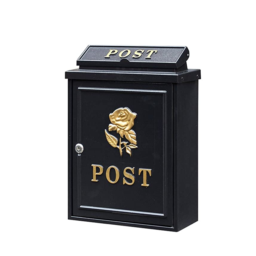 放出模索キャメル多機能メールボックス ロックポストボックス付きヨーロッパのレターボックス屋外雨水ヴィラのメールボックスの壁 (色 : ゴールデン ご゜るでん)