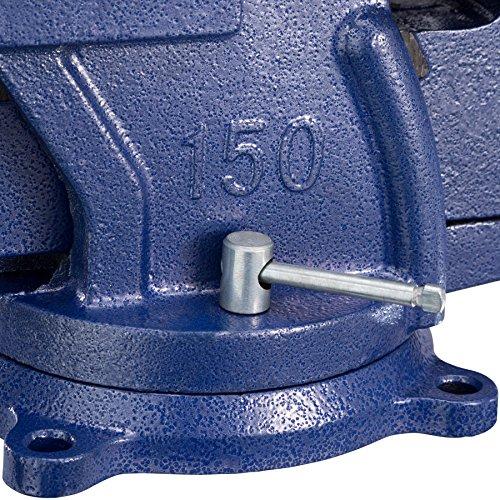 TecTake Schraubstock Amboss 360° drehbar mit Drehteller für Werkbank – diverse Größen – (Spannweite 165 mm | Nr. 401125) - 8