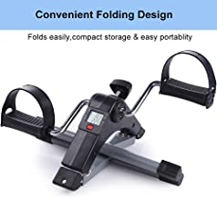 Qualimate Digital Foldable Portable Foot Pedal Exerciser Cycle for Home Gym Fitness