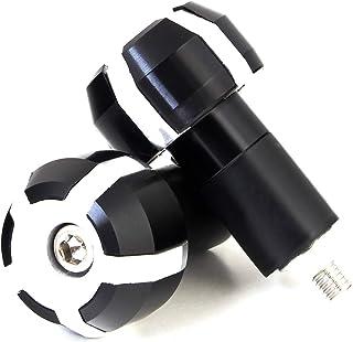 Lenkerenden Lenkergewichte Vibrationsdämpfer für Motorrad Motorroller Lenker mit 17,5 mm Innendurchmesser (Silber)