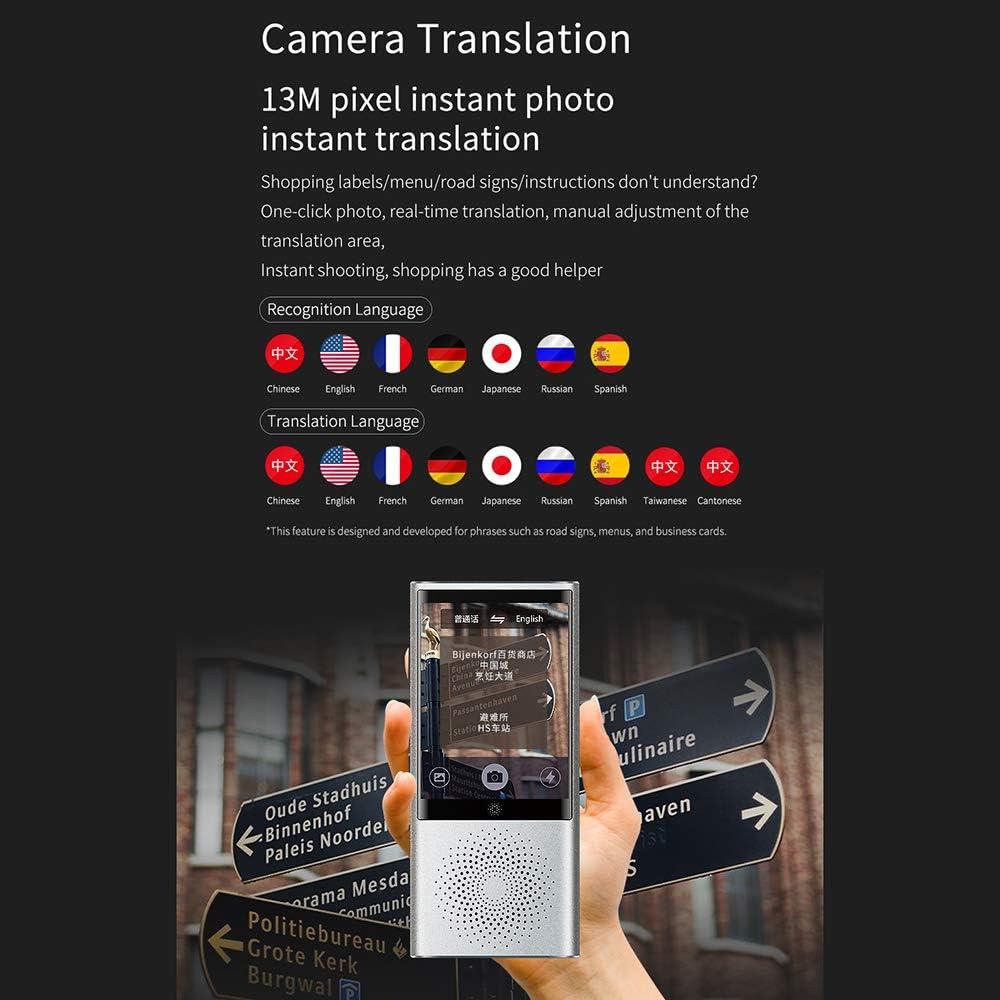 240 Aufl/ösung 13M Pixel Kamera 45 Sprachen Mini Recorder Chat Stimme Tragbare WiFi W1 /Übersetzer Smart Business Reise AI /Übersetzungs-Maschine 2,8 Zoll Bildschirm 4G Netzwerk 1G 8G 320 Walmeck