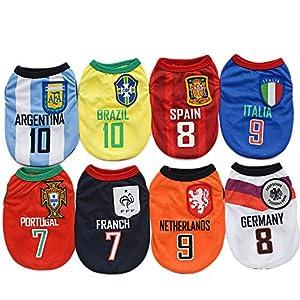 Amakunft Maillot de football pour chien Équipes nationales Coupe du monde