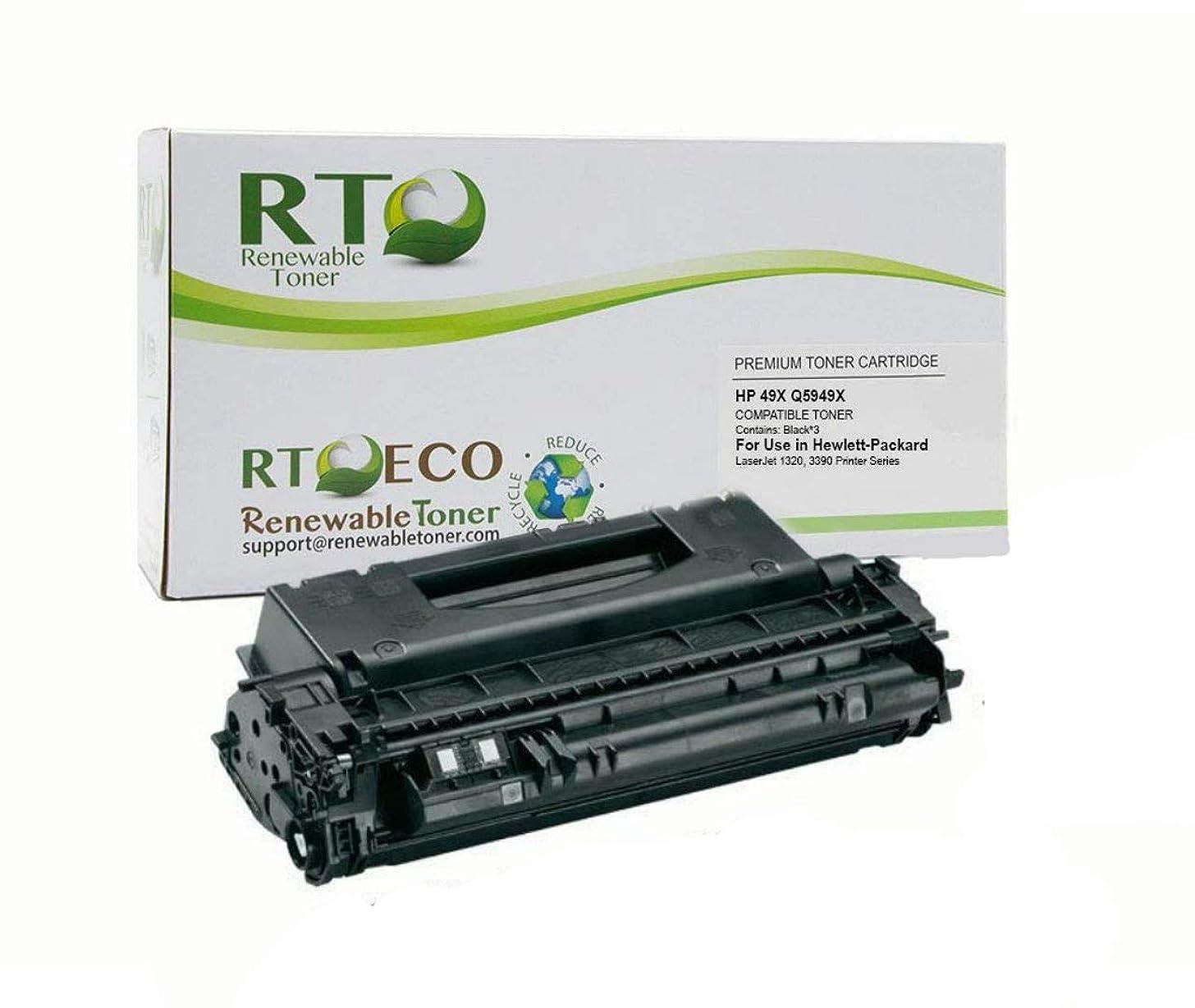Renewable Toner Compatible High Yield Toner Cartridge Replacement for HP 49X Q5949X Laserjet 1320 3390 3392
