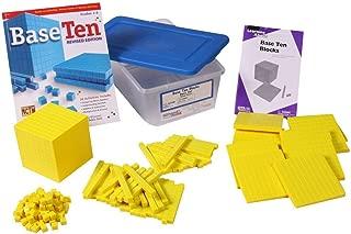 hand2mind Yellow Plastic Base Ten Blocks, Starter Set (Set of 161)