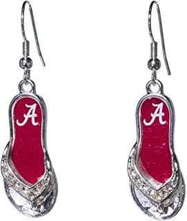 Sports Team Accessories Alabama Crimson Tide 1.25 Inch Licensed Silver Toned Flip-Flop Earrings