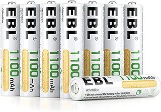 EBL 1100mAh AAA Ni-MH 1200 Ciclo de Pilas Recargables para los Equipos Domésticos con Estuches de Almacenamiento (8 Piezas)