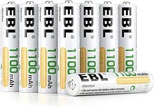 EBL 1100mAh AAA Ni-MH 1200 Ciclo de Pilas Recargables para