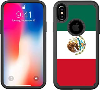 CorpCase iPhone XR Hybrid Case (6.1 inch) Heavy Duty Protection - Mexico Flag - Cute Design Pattern Shockproof Protective ...