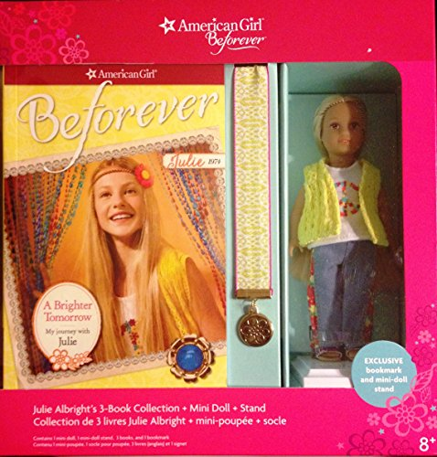 American Girl Doll Beforever Julie Albright Mini Doll & 3 book Collection