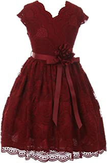dress in lace design