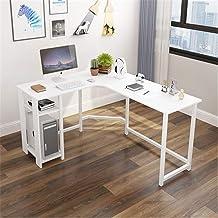Home Simple Desktop Corner Computer Desk, Multi-Functional Durable L-Shaped Corner Desk,White