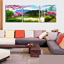 ASDFSQQ Abstract canvas 3panels 3 Pcs/set Oil Art Paintings Abstract Chrysanthemum In Black Painting Home Decorative Flower Printed