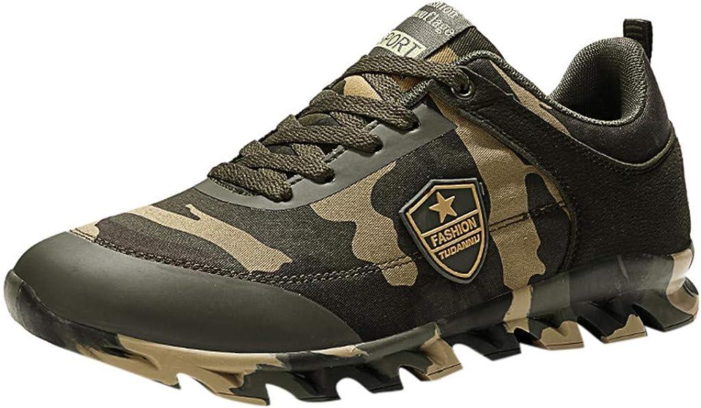 OYSOHE Unisex Sneaker Outdoor Camouflage Lace-Up Sportschuhe Atmungsaktiver Canvas Laufschuhe