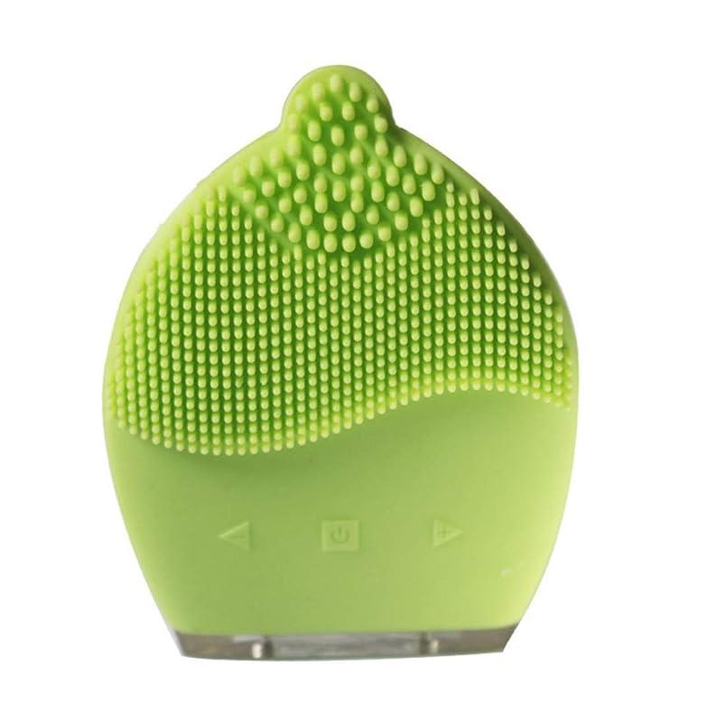 連邦協定戻るCAFUTY 超音波シリコン電気洗浄器具 除染黒髪洗浄 洗浄ブラシ (Color : イエロー)