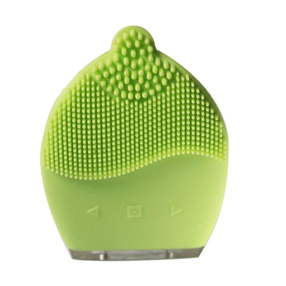 オフェンスパケット先例CAFUTY 超音波シリコン電気洗浄器具 除染黒髪洗浄 洗浄ブラシ (Color : イエロー)