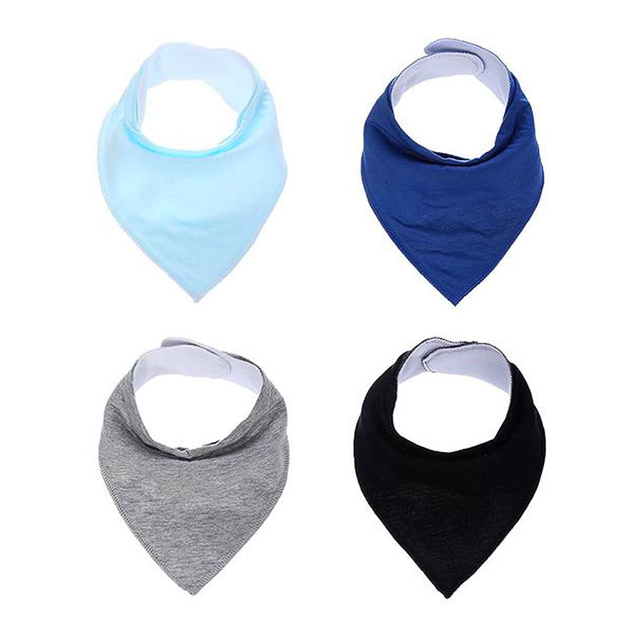 Baby Bibs Bandana Teething Organic Cotton boys girls Adjustable Snap triangle Drool Bib set (Solid color 2 #)