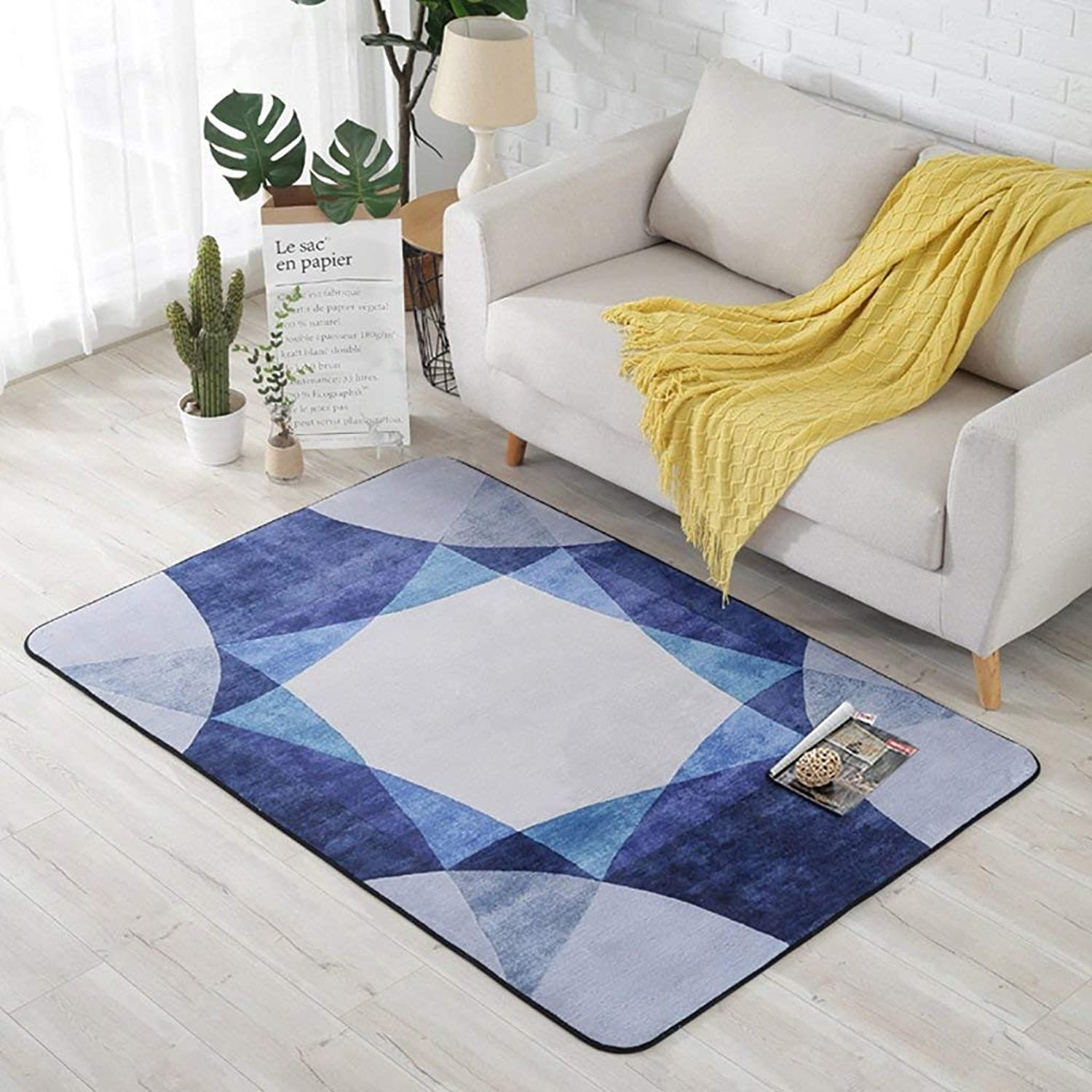 Royare Home Decorations mat Creative Light Nordic Modern Geometry Carpets Sofa Coffee Table Living Room Rug Bedroom Bedside Rectangle Home Mats (Size   100cm150cm)