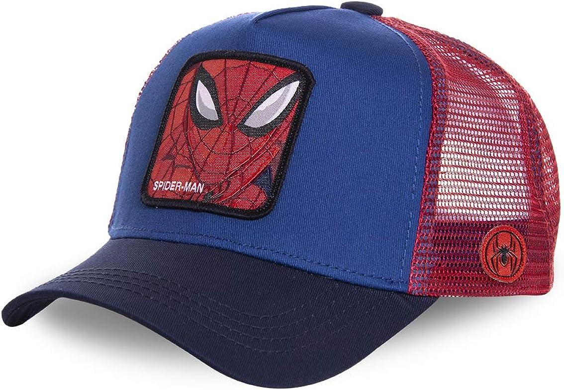 impresi/ón 1 unidad Iron Man Gorra de los Vengadores de Marvel para ni/ños blanco y azul Capit/án Am/érica Comic Superh/éroes Spider-Man Hulk negro