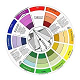 Color Wheel Color Mix Guide, ATOMUS Tattoo Pigment Chart Supplies for Paint Permanent Eyebrow Lip Body Tattoo (9.25in)