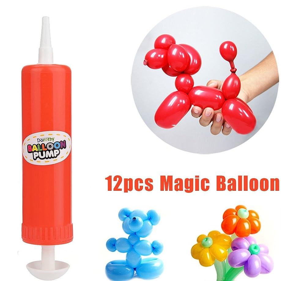 Fullfun 12 Pcs Latex Twisting Long Balloons Toys + 1PC Pump
