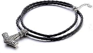 Hammer of Thor Mjolnir Pendant Necklace -Unisex Nordic Scandinavian Viking Hammer Chain..