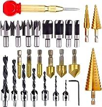 Meijunter Scies-Cloches Drill Acier HSS M/èche Foret en M/étal Outils de Forage M/èche Fraise Carbure pour le Fer//Plastique//Acier Inoxydable//M/étal 35mm