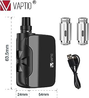電子タバコスターターキットAIO Vape Vaptio Fusion 1500mah 50w トップ気流3.8ml 液漏れなし簡単な操作ニコチンなし(黒)