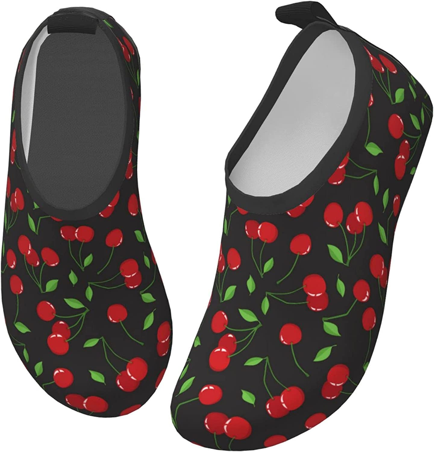Cherry Cute Fruit Red Children's Water Shoes Feel Barefoot for Swimming Beach Boating Surfing Yoga