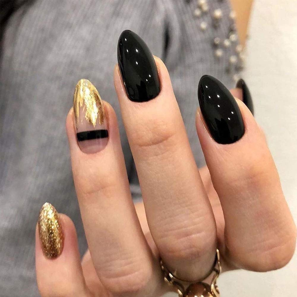Feilisa Black-Long Full cover Press Challenge the lowest price of Japan on Nails 10size Fake nails A National uniform free shipping