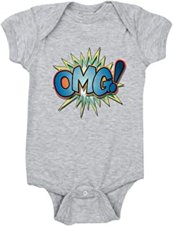 Cloud White 18 To 24 Months Truly Teague Long Sleeve Infant T-Shirt Text Abbreviation OMG!