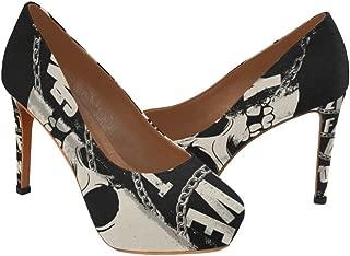 Skulls Beautiful Women's Sexy High Heels Pump Shoes