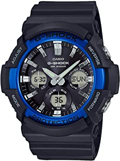 GSHOCK Men's Solar Powered Wrist Watch analog-digital Display and Resin Strap, GAS100B-1A2