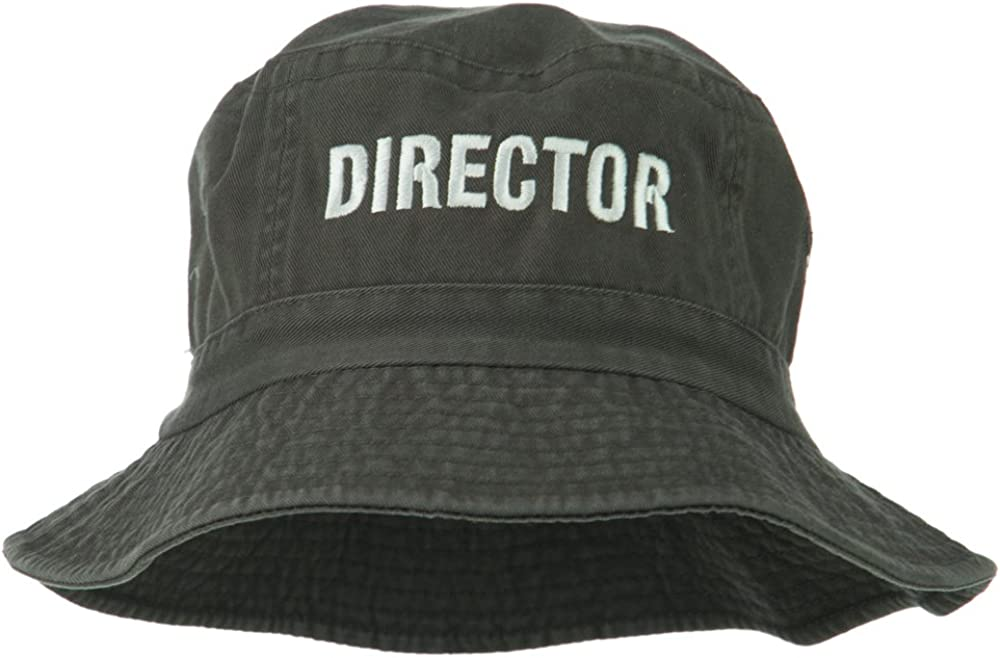 e4Hats.com Director Embroidered Pigment Hat Selling Bucket outlet Dyed