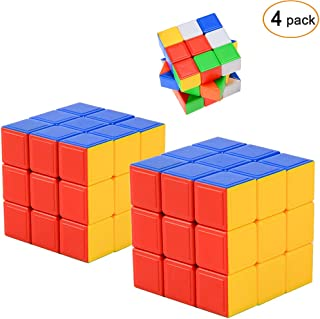 Ohuhu Speed Cube, Smart Cube 3x3x3, Stickerless Magic Cube Puzzle Toys for Kids and Adults, 4 Pack